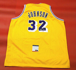 Image is loading MAGIC-JOHNSON-AUTOGRAPHED-LOS-ANGELES-LAKERS-JERSEY-PSA- 0fb780c30