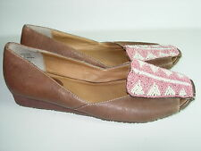 9f80add71a7c91 item 6 WOMENS BROWN LEATHER PINK WHITE BEADED ME TOO ETHNIC BALLET FLATS  SHOES SIZE 6 M -WOMENS BROWN LEATHER PINK WHITE BEADED ME TOO ETHNIC BALLET  FLATS ...