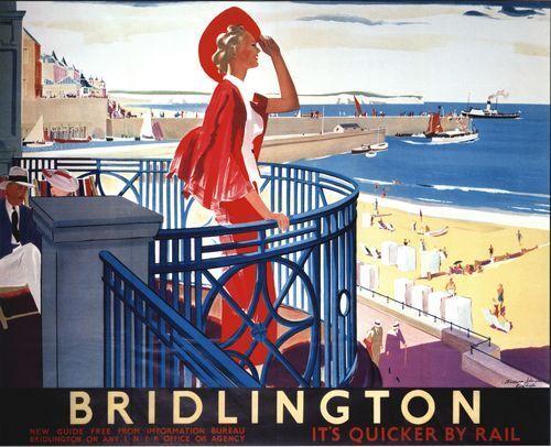 Vintage LNER Bridlington Railway Poster A3 A2  Reprint