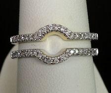 1/4 Ct Solitaire Enhancer Diamonds 14k Yellow Gold Guard Wrap Wedding Band Ring