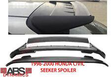 NEW 1996 2000 Honda Civic HatchBack Seeker Style Roof Spoiler Unpainted Black