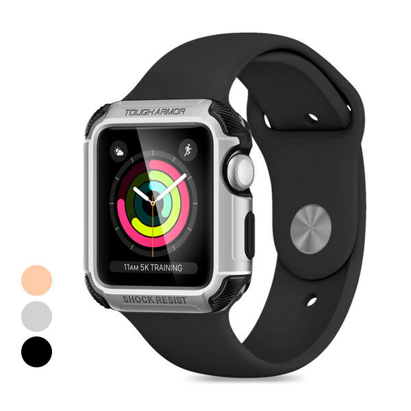 sale retailer 3de93 db177 Tough Armor 2nd Generation Case for Apple Watch Extreme Heavy Duty  Protection 42