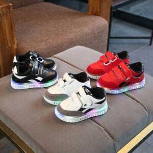 Kids-Children-Baby-Girls-Boy-Light-UP-Led-Luminous-Sneaker-Running-Sport-Shoes
