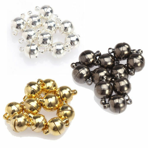 Wholesale 10sets two parts powerful magnetic round clasps DIY jewelry findings