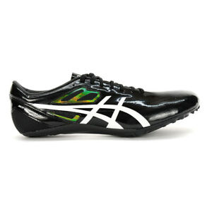ASICS Unisex SonicSprint Black/White Track & Field Shoes G601Y.001 NEW