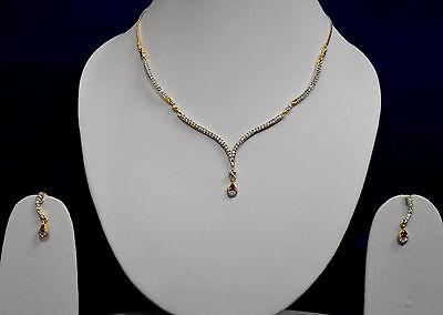 Party Wear American Diamonds Indian Wedding Necklace Earrings Jewelry Sets WN001
