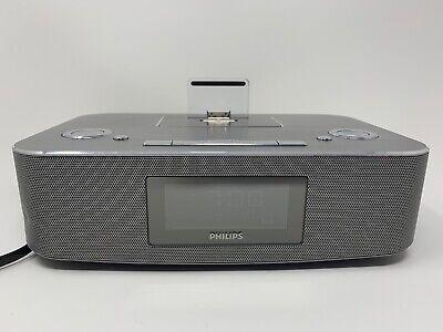 PHILIPS DC29137 30 Broche Station d'Accueil Radio réveil double alarme IPOD (aluminium) | eBay
