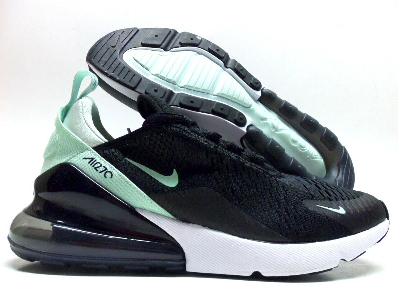 NIKE AIR MAX 270 BLACK IGLOO-HYPER TURQ SIZE WOMEN'S 12 MEN'S 10.5 [AH6789-008]