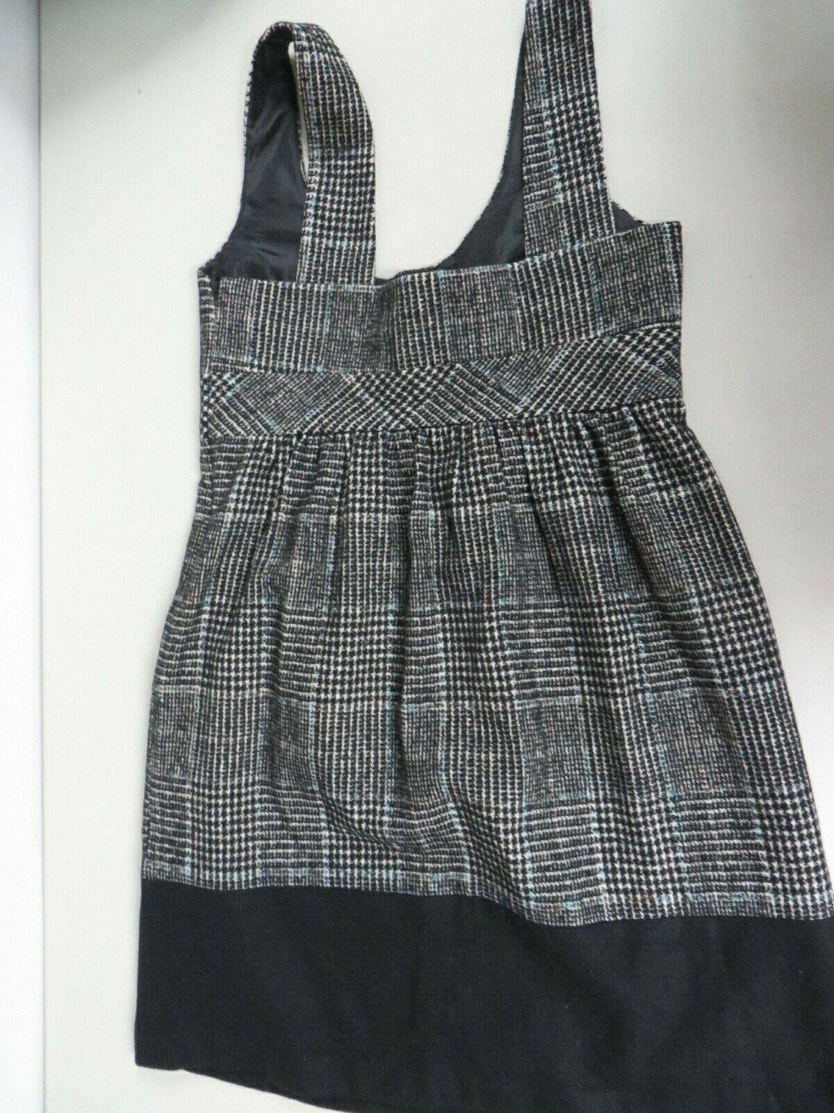 ZARA BASIC Wool blend Tweed Checkered Tartan  Bla… - image 3