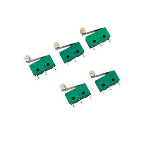 US-Stock-5pcs-KW4-3Z-3-SPDT-NO-NC-Momentary-Hinge-Lever-Limit-Switch-Microswitch