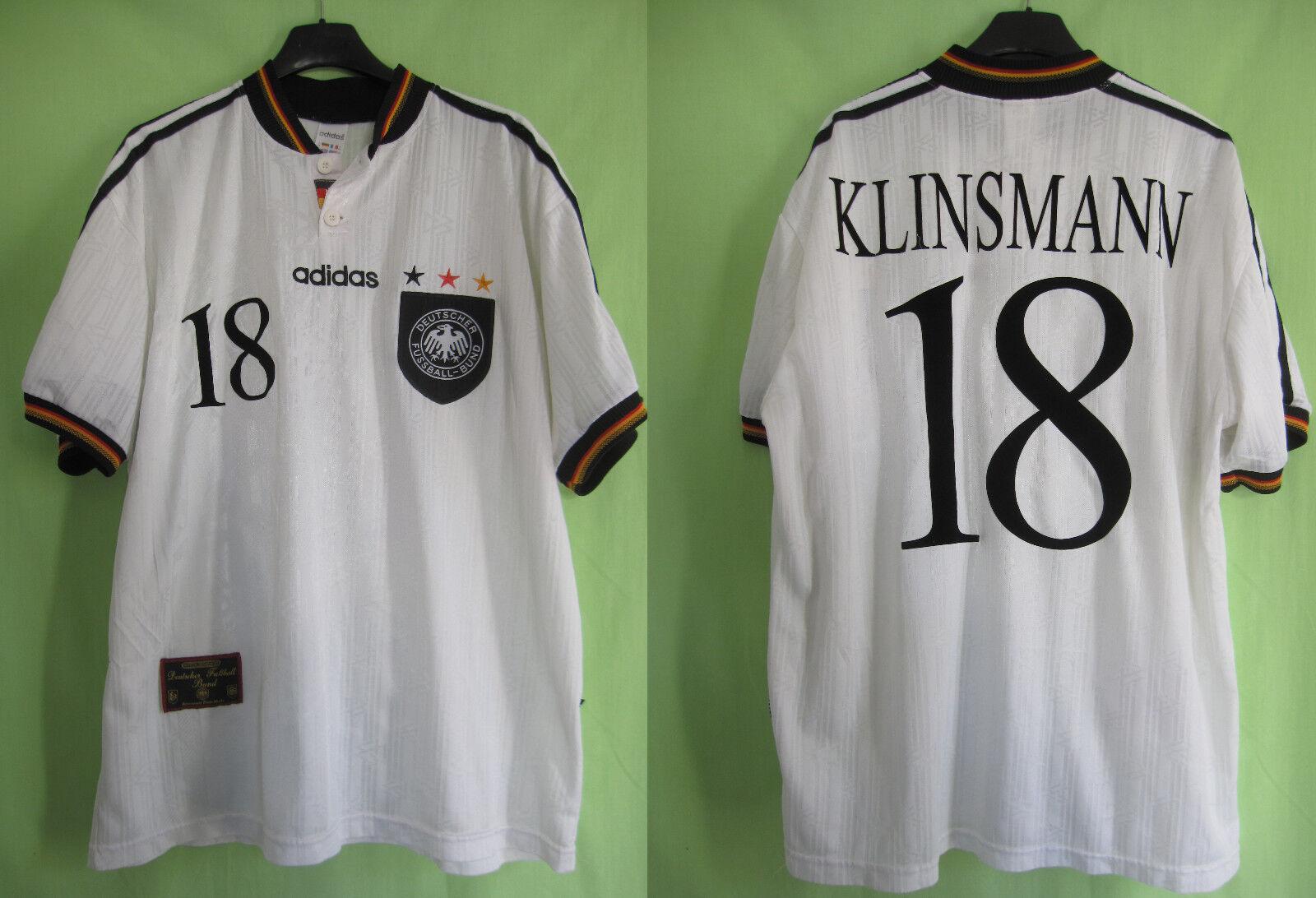 Maillot ALLEMAGNE 1996 Vintage Fussball Bund Klinsmann Deutschland trikot  XL