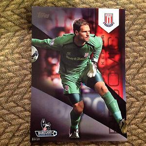 #109 Asmir Begovic - Stoke City #ed/10 made 2014/15 Topps Premier Gold 5x7 BLACK