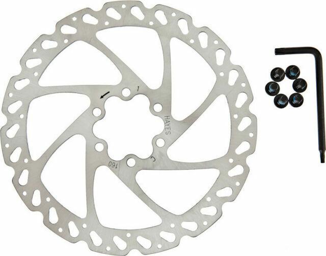 """Hayes Radar Mountain MTB Cycling Bike Hydraulic Disc Brake Set w//160mm 6/"""" rotors"""