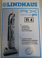 Genuine Lindhaus R4 Rx Healthcare Pro Vacuum Cleaner Bag 10 Bags 2 Filters