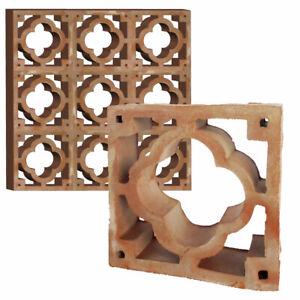 50 Formziegel Dekor Blume - Dekorziegel Sichtschutz Wand Mauerziegel Zierziegel