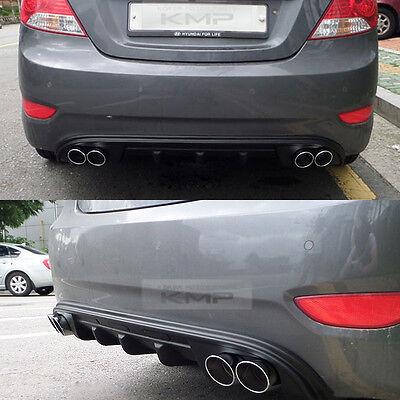 For HYUNDAI 2011 - 2015 Solaris Accent Verna Rear Bumper Diffuser Dual-muffler