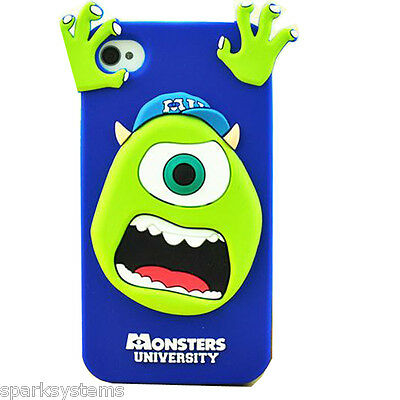 Cartoon Monster Silicon Protective Case Cover for Samsung Galaxy Apple iPhone N3