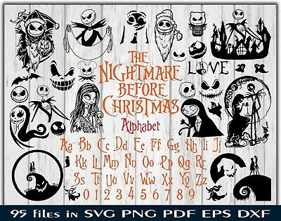 The Nightmare Before Christmas Bundle Svg Dxf Eps Png Pdf Cricut Alp Ebay
