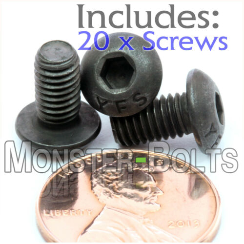 "Alloy Steel Black Oxide BUTTON HEAD Socket Cap Screws #10-32 x 3//8/"" Qty 20"