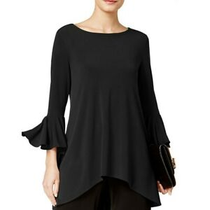 ALFANI-NEW-Women-039-s-Ruffle-sleeve-High-low-Blouse-Shirt-Top-TEDO