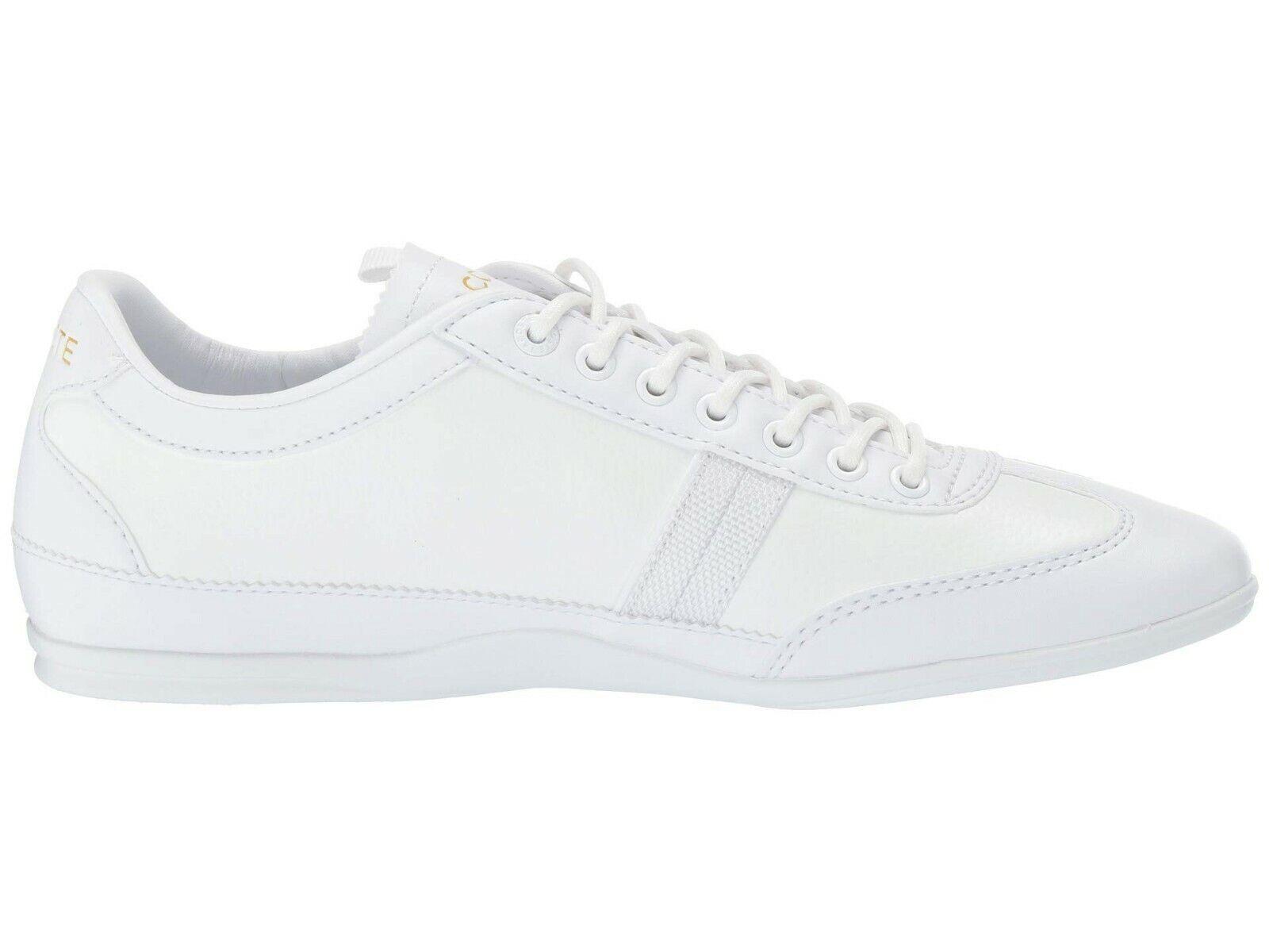 Lacoste Misano 119 1 u CMA para Hombre de Cuero blancoo informal Tenis