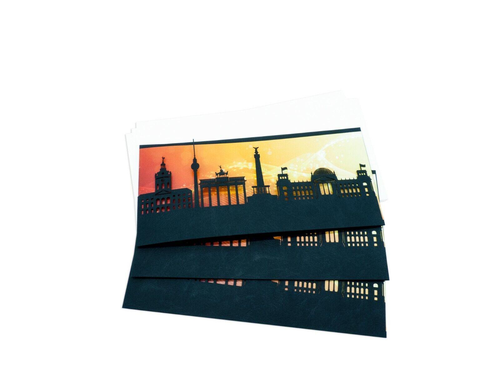 BERLIN SkylineCard als Geschäftskarte, Glückwunschkarte, Geburtstagskarte