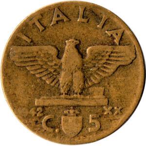 Moneda-Italy-5-centimos-1942-Victor-em-WT1305