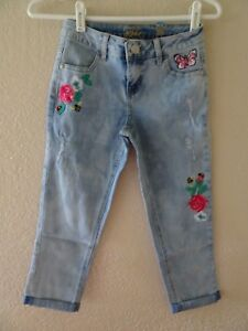 Image is loading NWT-JUSTICE-SIZE-8-12-14-EMBROIDERED-JEANS-