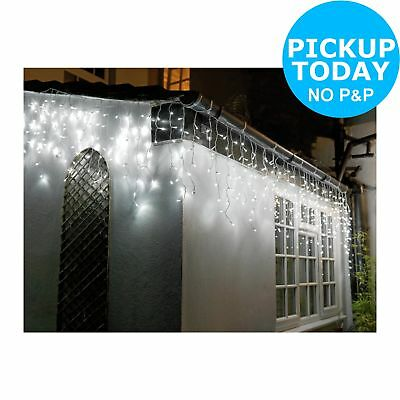 3cb6fce24105 Details about Argos Home Set of 160 Icicle String Lights - Warm White