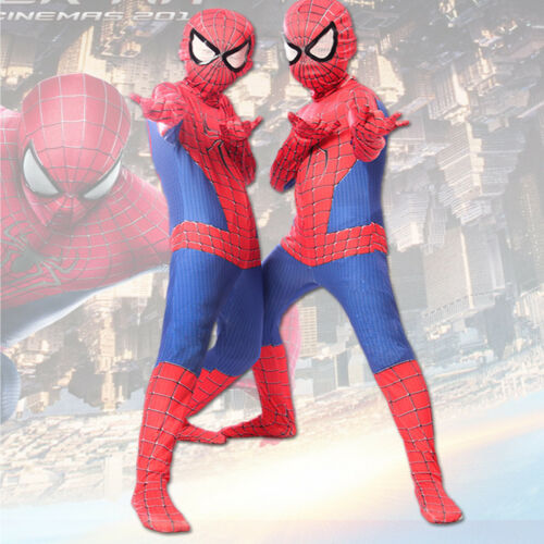 Children Kids Spiderman Cosplay Costume Jumpsuit Fancy Tights Dress Party Outfit