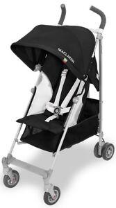 Maclaren-Baby-Globetrotter-Lightweight-Reclining-Single-Stroller-Black-White-NEW
