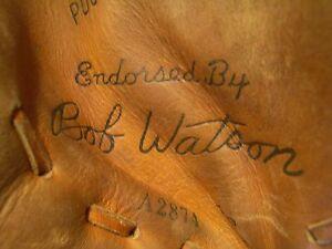 BOB WATSON FASTBACK FIRST BASEMANS GLOVE w AUTOGRAPH, WILSON #A2874, EX, NICE!