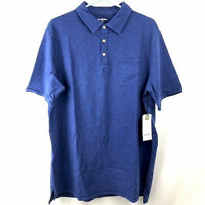 Goodfellow /& Co Mens Polo Shirt Size 2XB 2XL Big Blue Cotton Short Sleeves NWT