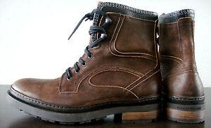 Details about FLORIS VAN BOMMEL Boots Herren Stiefel Schnürstiefelette Schuhe Braun Gr.41 NEU