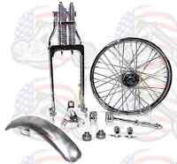 Chrome Springer Front End Forks Kit Harley Ironhead Sportster Bobber Chopper Cc