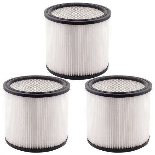 3 Pack Filter Cartridges 90304 90350 90333 Type U for Shop Vac Wet//Dry Vacs