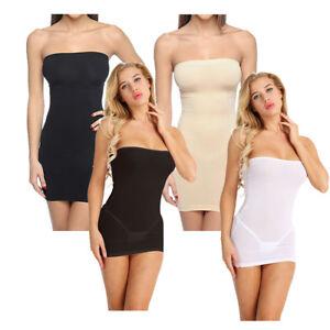 3fbf77f154ff3 Image is loading Sexy-Womens-Strapless-Shapewear-Tummy-Control-Slip-Tube-