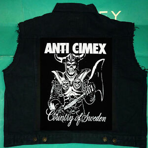 Raid Svezia Crust Paese nera Bomb Anti di M xxl jeans di cimex tagliata Giacca CqfSgUwF