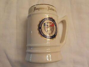 Vintage 1980's Ceramic Porcelain DUQUESNE UNIVERSITY FRATERNITY Mug