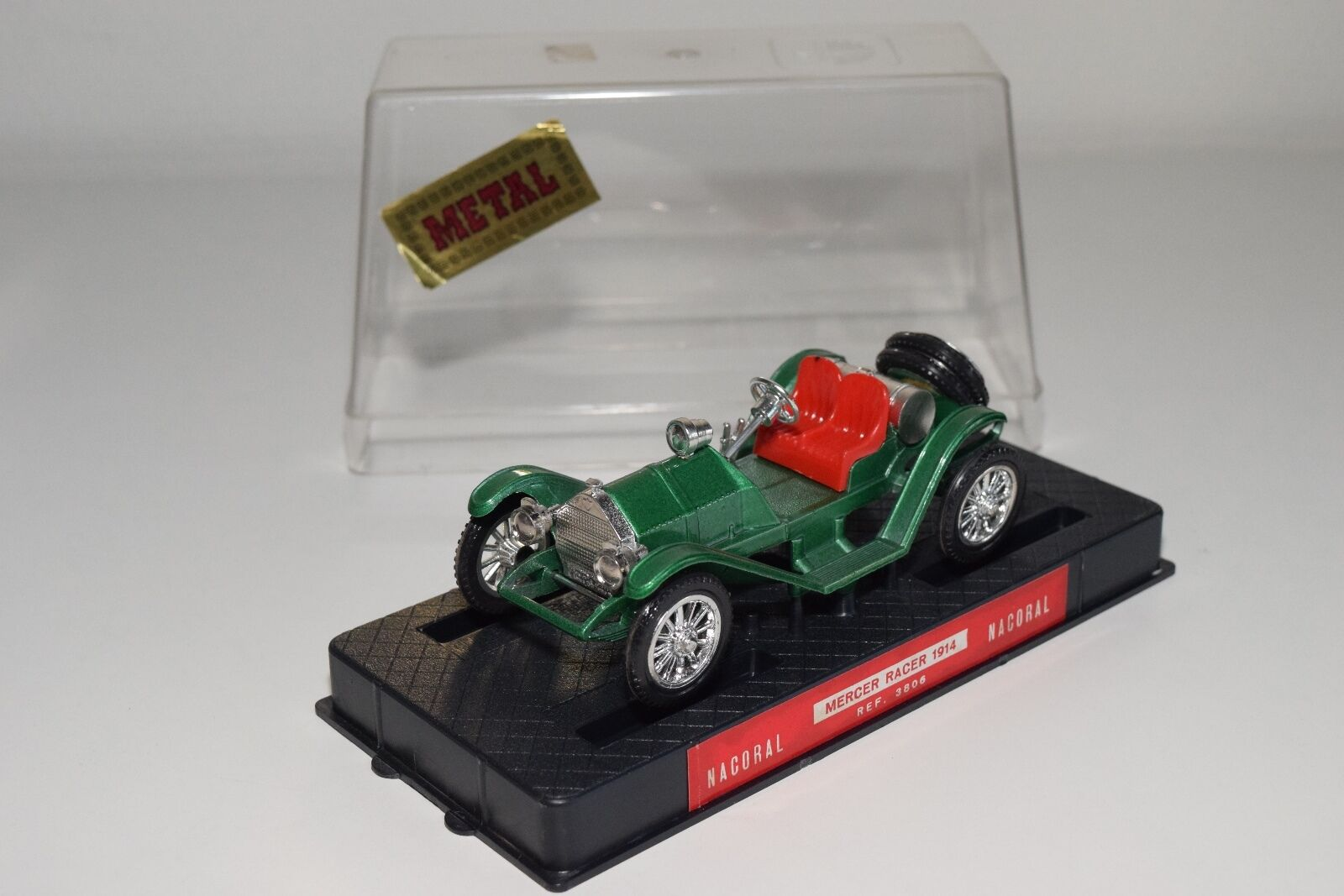 + NACORAL 3806 MERCER RACER 1914 METALLIC verde MINT BOXED RARE SELTEN