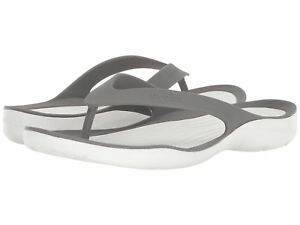 Unisex Crocs flip flops style swiftwater color gray
