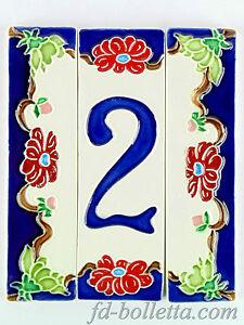 Numeri Civici In Ceramica.Dettagli Su Numeri Civici In Ceramica Numero Civico Ceramica Fiore Tasselli Ceramica Nf 1