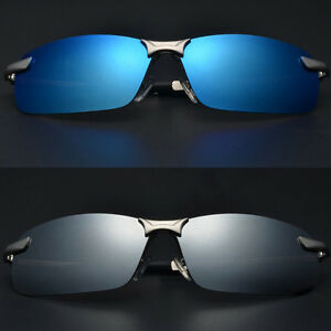 Mens-Polarized-UV400-Mirrored-Sunglasses-Pilot-Driving-Outdoor-Glasses-Eyewear