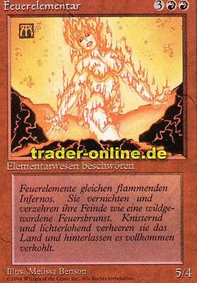 Feuerelementar Fire Elemental Magic limited black bordered german beta fbb for