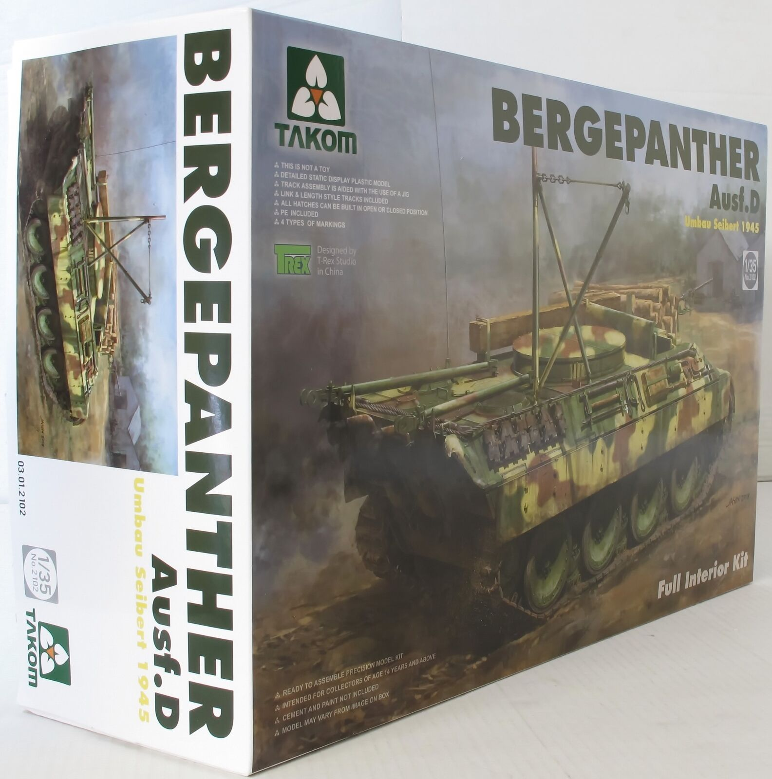 Takom 1 35 02102 Bergepanther Ausf D Umbau Seibert 1945  Model Military Kit