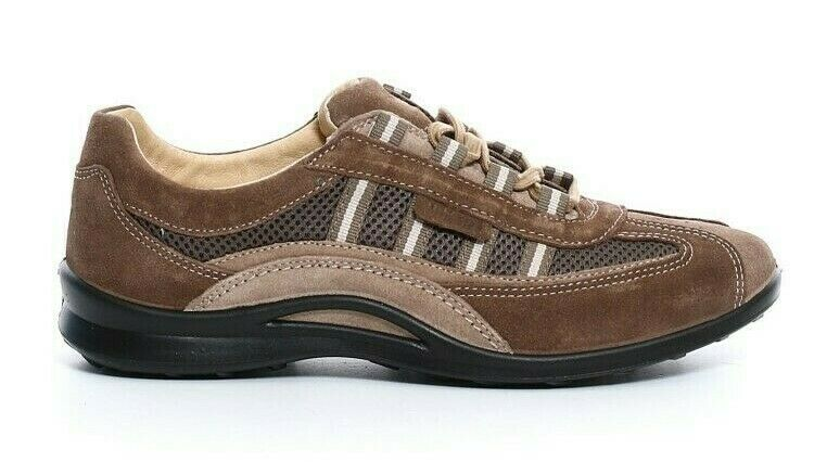 SHOES greyPORT REAL LEATHER MAN LACES ART 8409 col TORBA BEIGE Made in