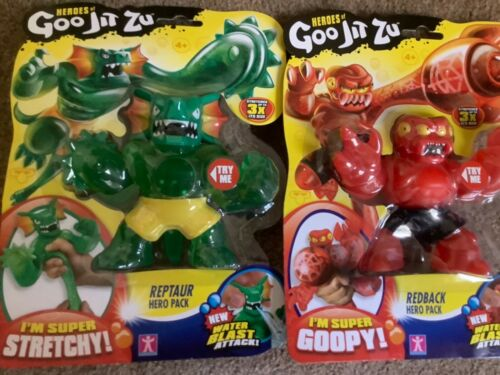 Heroes of Goo Jit Zu Red Back Spider And Reptaur FrillneckWater Blast Attack