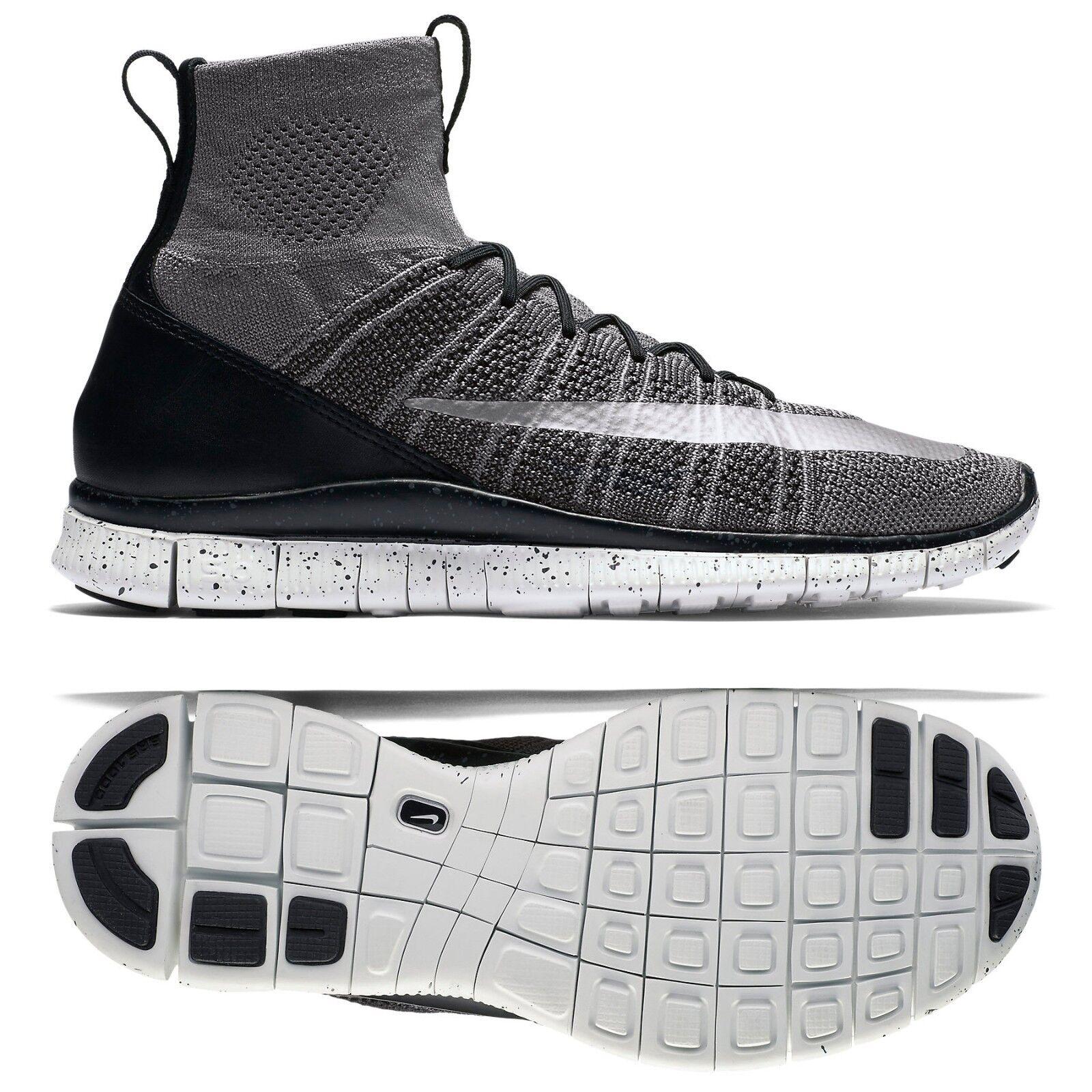 Nike Free Flyknit Mercurial CR7 805554-004 Grey/Black/White/Silver Men's Shoes