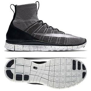 b1019cd4cd26 Nike Free Flyknit Mercurial CR7 805554-004 Grey Black White Silver ...