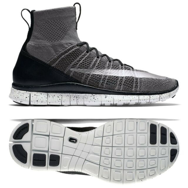sports shoes 7c2fe 056ec Nike Free Flyknit Mercurial CR7 805554-004 Grey Black White Silver Men s
